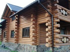 Baths and houses from wild carcass with delivery in Ukraine