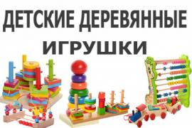 "Children's wooden toys in store ""Logic"""