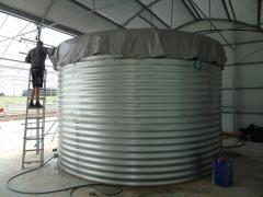 Fire tank of 1,000 cubic meters of water, capacity 1000 m3