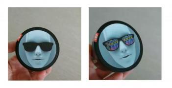 Флікстікери: стерео варіо 3D стікер, наклейка, етикетка