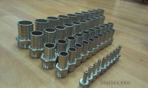Hose connection stainless steel DN 15 * 13 mm (1/2) AISI 304