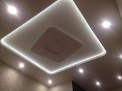 Новые тканевые натяжные потолки