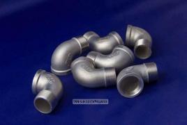 Отвод нержавеющий с наружной резьбой Ду 15 (1/2) AISI 304