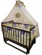 "Promotion! Set ""Weasel Eco"": the pendulum crib, mattress coconut"