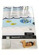 R3-330013, linens, single Fish , light blue
