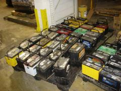 Reception of waste batteries and non-ferrous metals