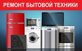 Repair of washing machines,refrigerators,boilers,TV etc