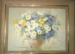 The painting is oil on canvas. Flowers. Author's work. The Artist L. Sinews