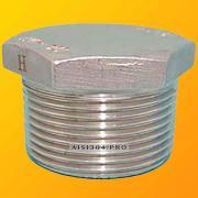 Threaded plug stainless DN 15 (1/2) AISI 304